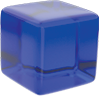 blue translucent cube